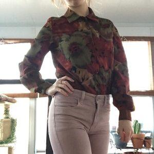 Vintage floral collars shirt
